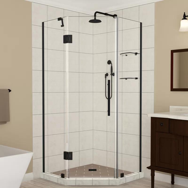 Aston Merrick Gs 42 X 72 Hinged Frameless Shower Door Wayfair In 2020 Frameless Shower Doors Shower Doors Neo Angle Shower Enclosures