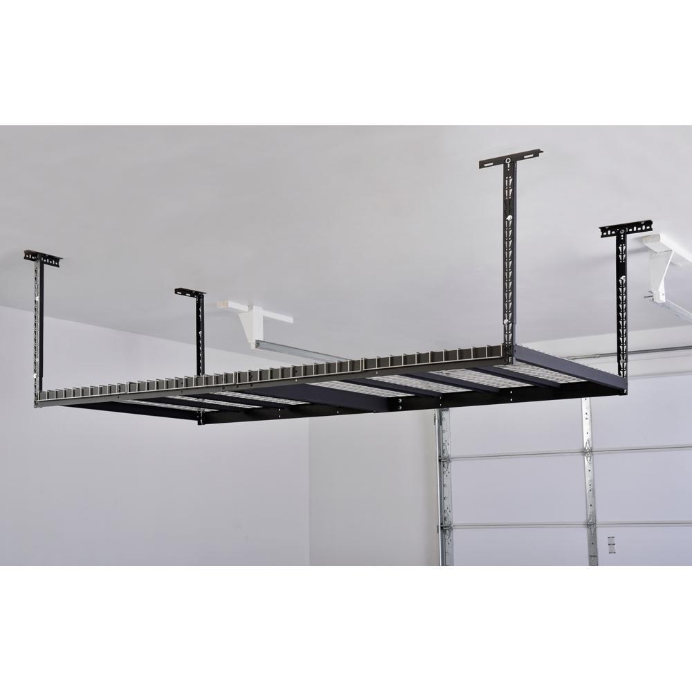 Overhead Ceiling Mount Storage Rack Black