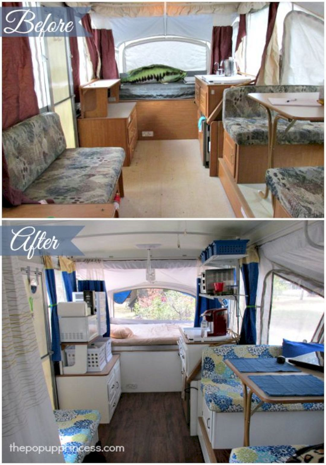 RV Remodel 20 Beautiful Before And After Picture Hroomy Rv Camper Best Gorgeous