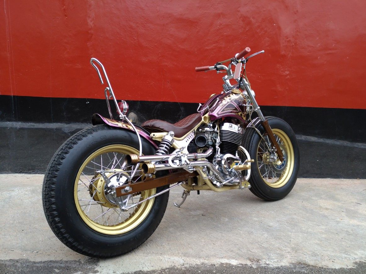 Sanex QJ250 2001 Japanese Bobber Build by Glinding Kustom