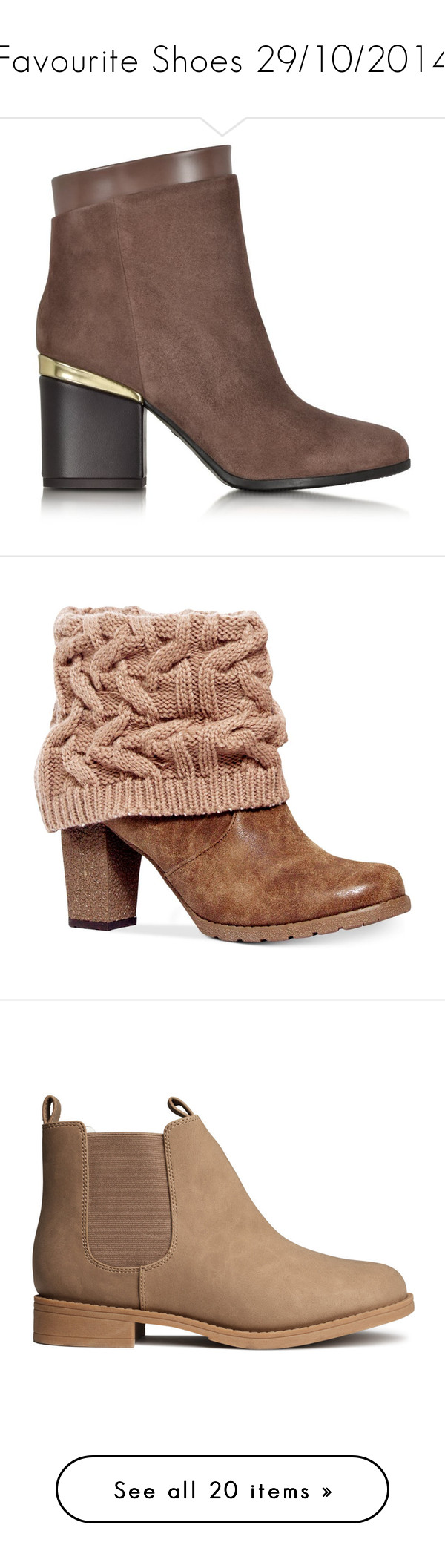 """Favourite Shoes 29/10/2014"" by naomimjc ❤ liked on Polyvore featuring shoes, boots, ankle booties, side zip boots, suede ankle boots, short suede boots, ankle boots, suede bootie, heels and booties"
