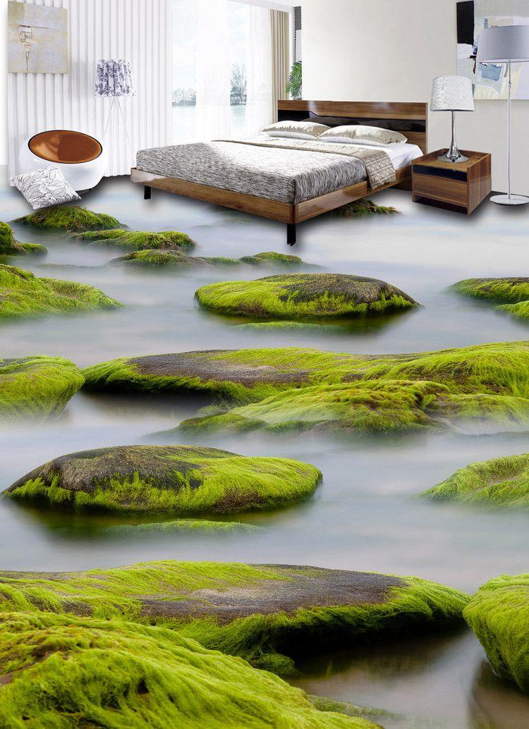 Revêtement de sol trompe l\u0027œil 3D chambre à coucher salle de bain