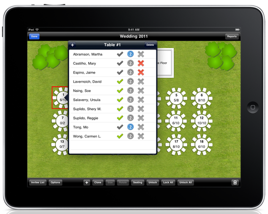 the ultimate seating chart app for iPad users! Wedding