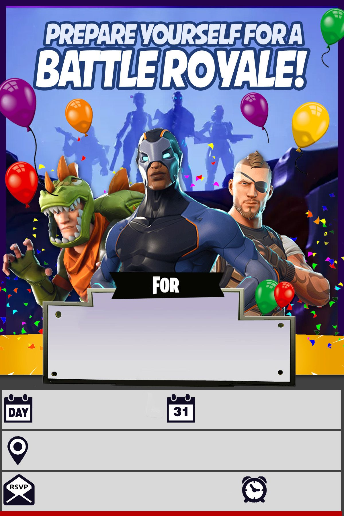 very attractive fortnite birthday card all digital and