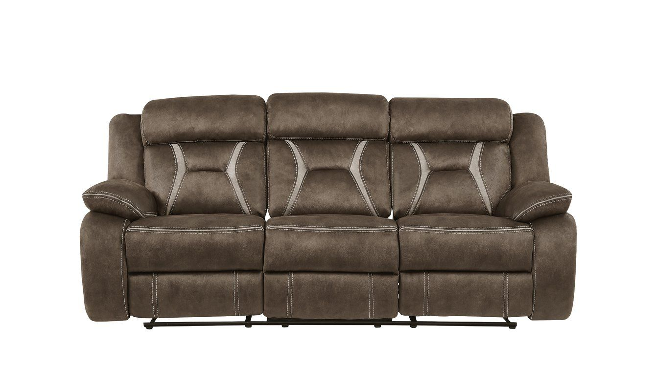 Guide To Mateas Stitched Fabric Reclining Sofa By Red Barrel Studio