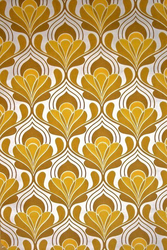 gold art nouveau Vintage wallpaper patterns, Retro