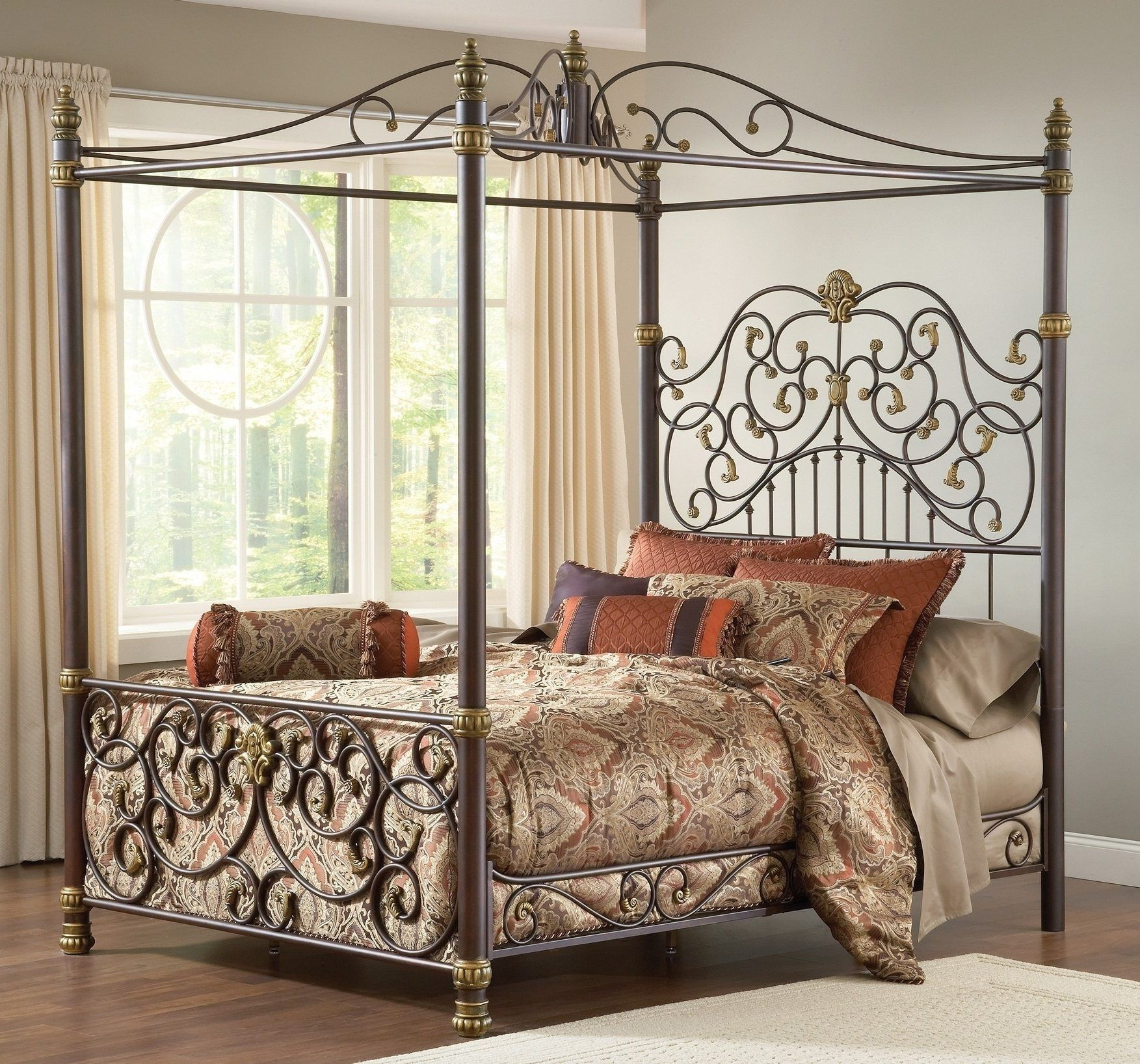 Image Result For Rustic Wood And Iron Beds Canopy Bed Frame Iron Canopy Bed Queen Canopy Bed