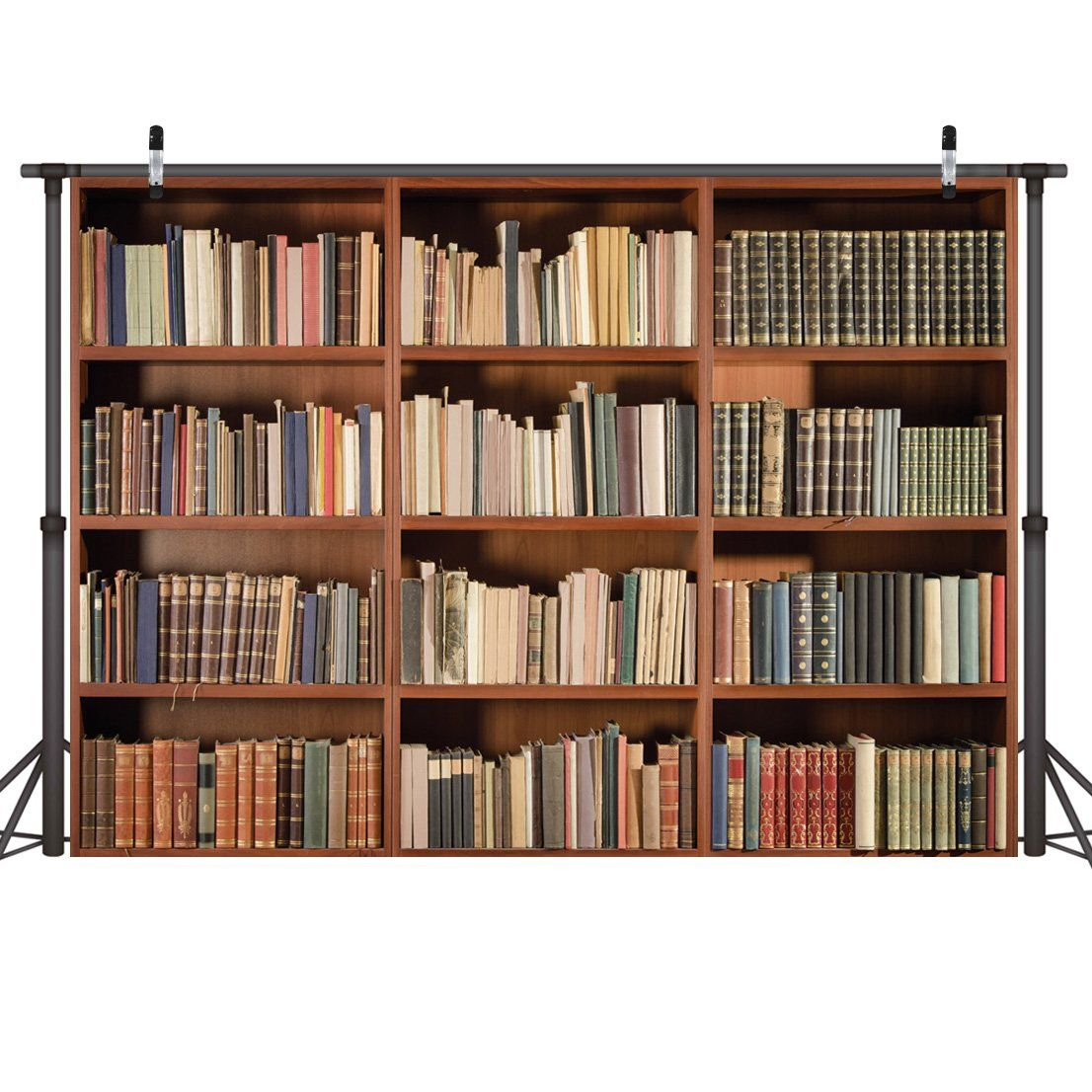 Lywygg 7x5ft Bookshelf Backdrop Vintage Bookcase Magic Books Grunge Ancient Library Vinyl Photography Backg