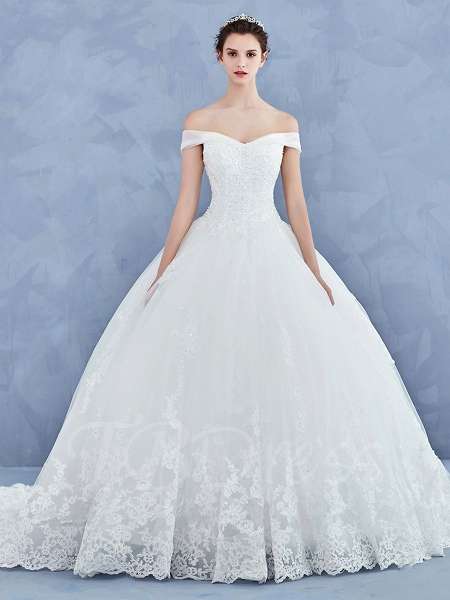 45495c059e4d Tbdress.com offers high quality Ball Gown Off the Shoulder Appliques  Lace-Up Wedding Dress Latest Wedding Dresses unit price of $ 282.99.