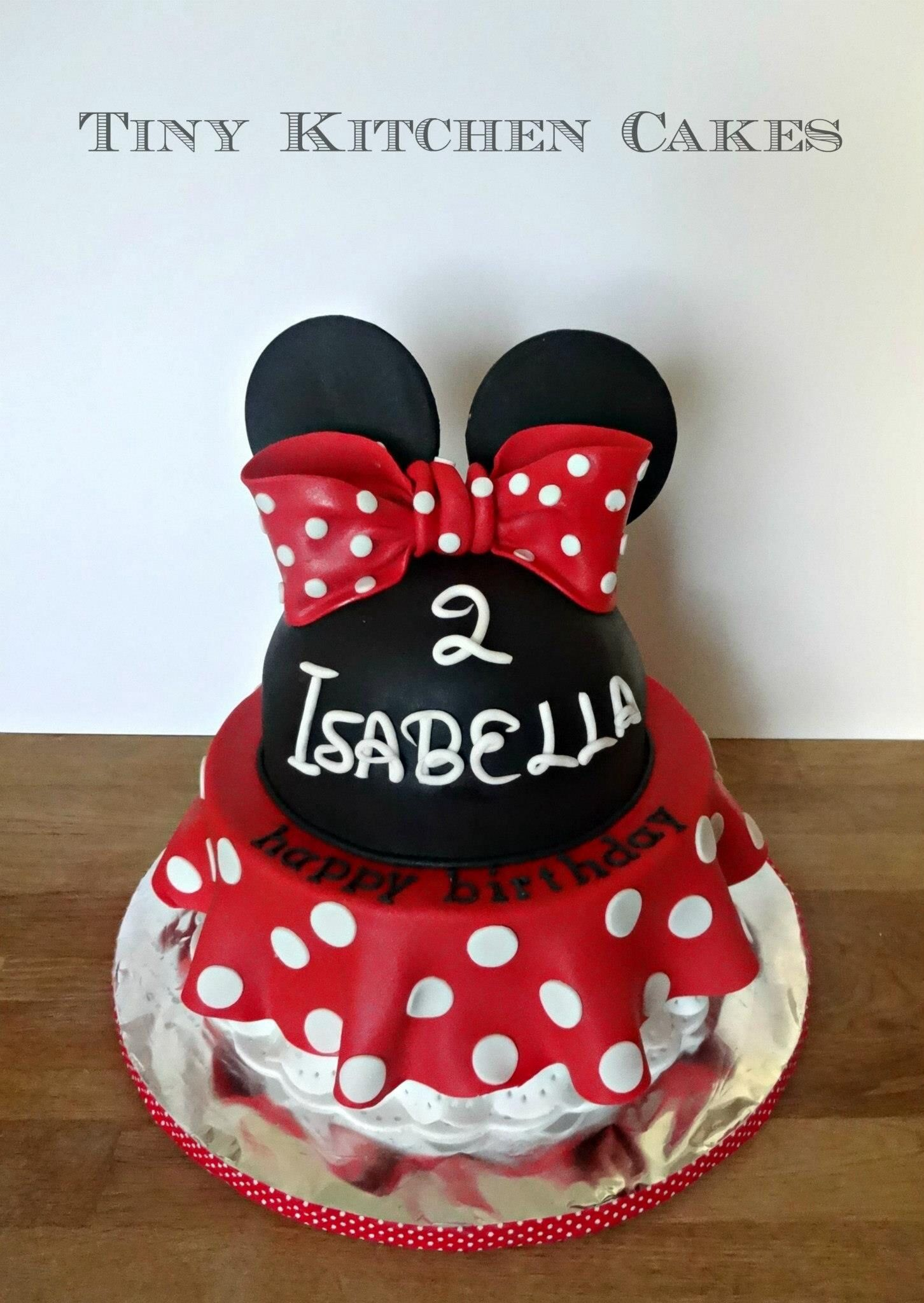 Red Minnie Mouse Dress Cake