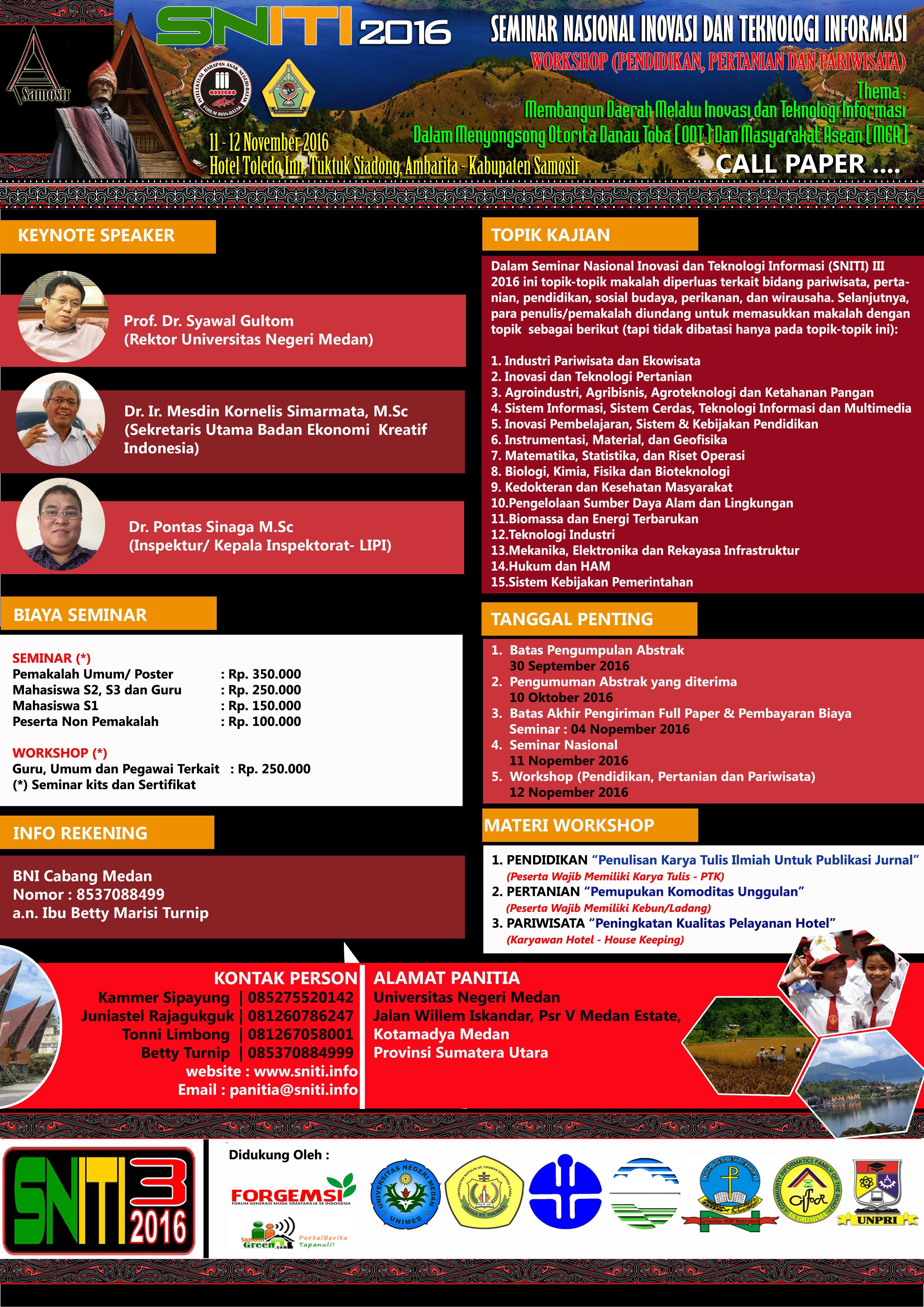 Poster Seminar Nasional Sniti Contoh Poster Pinterest
