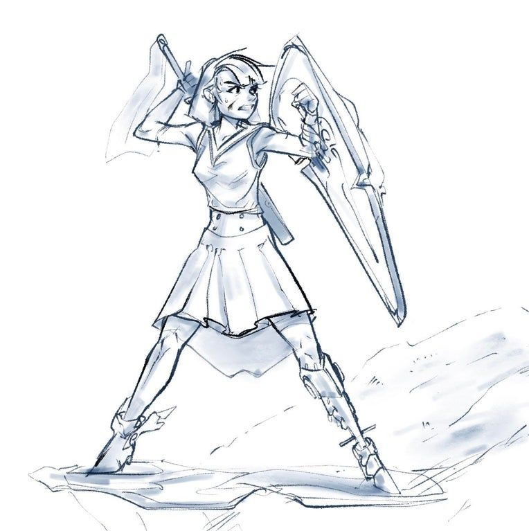 [OC] Student paladin in training : characterdrawing