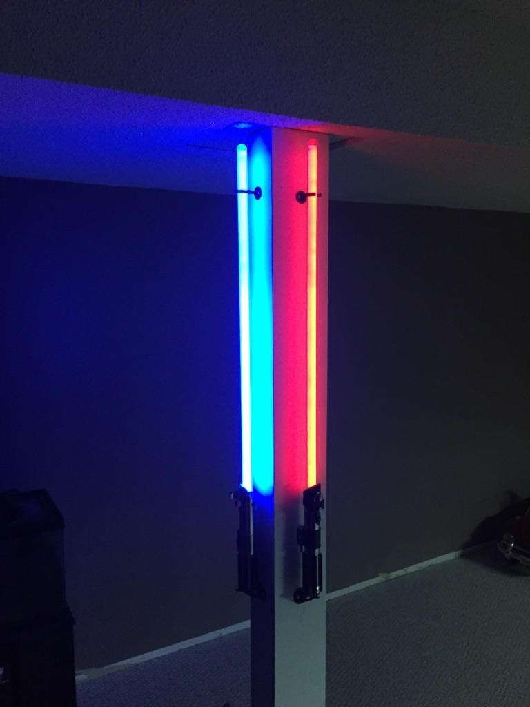 Lightsaber Vertical Wall Mounts Fits 1 Blade Ulimate Fx Force Fx Master Replicas Ultrasabers Saberforge Kyberlight By Adama Lightsaber Wall Mount Wall