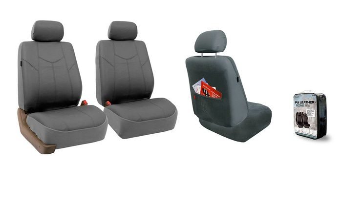 Faux Leather Front Car Seat Covers