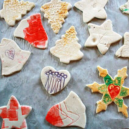 Stamped Salt Dough Ornaments – DIY Christmas Tree Ornaments