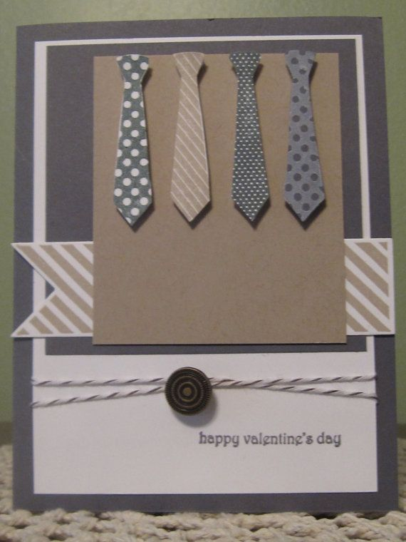 Handmade Greeting Card Masculine Valentines Day