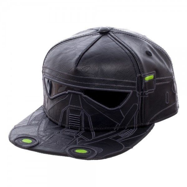 14bdfd99803 Rogue One A Star Wars Death Trooper Faux Leather Snapback Cap Hat PREORDER!  NEW!