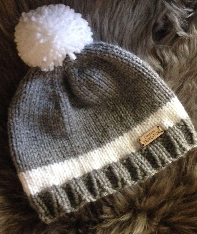 Tuque tricot bébé 0-6 mois de la boutique CreationsTrikoTuk sur Etsy ... 3d8bd939373
