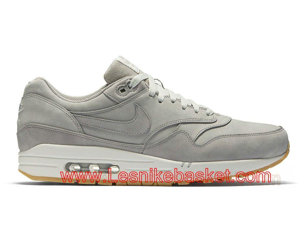 86bef953682bf4 Basket Homme Nike Air Max 1 LTR Premium Suede Ash 705282_005 Officiel  Nike-1706202070 -