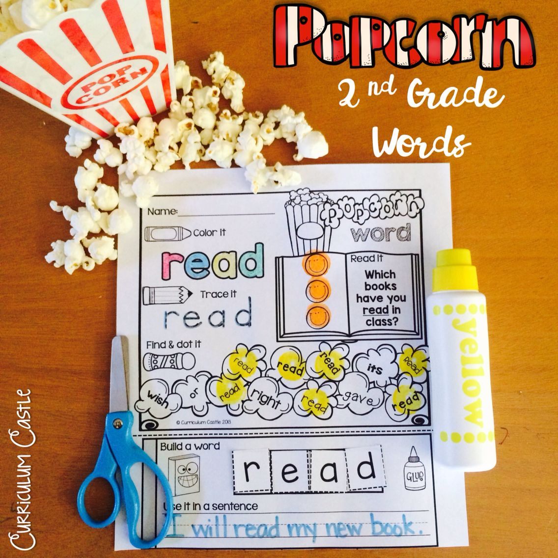 Second Grade Sight Words Popcorn Word Printables Amp Game