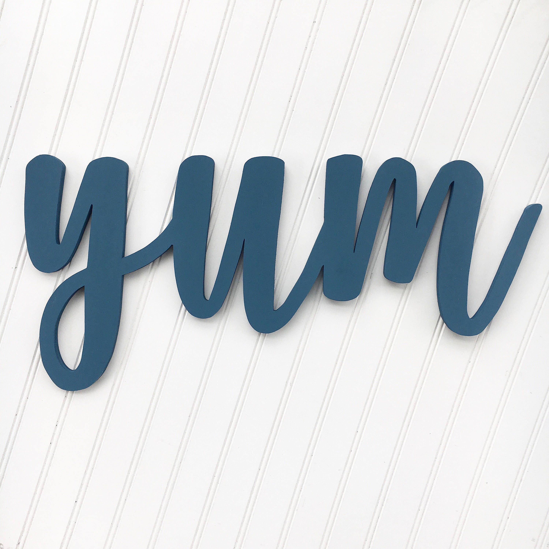 Large Cursive Yum Cutout, 1/2\