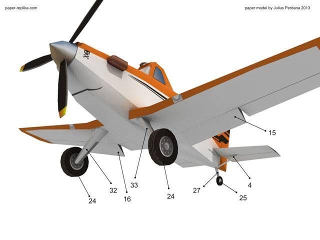 Dusty - Disney Planes Paper Model | planes6 | Paper models