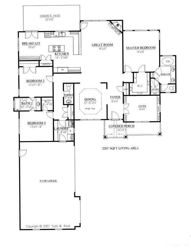 House Plan 286 00052 Ranch Plan 2 297 Square Feet 3 Bedrooms 2 5 Bathrooms In 2021 Craftsman Style House Plans L Shaped House Plans New House Plans