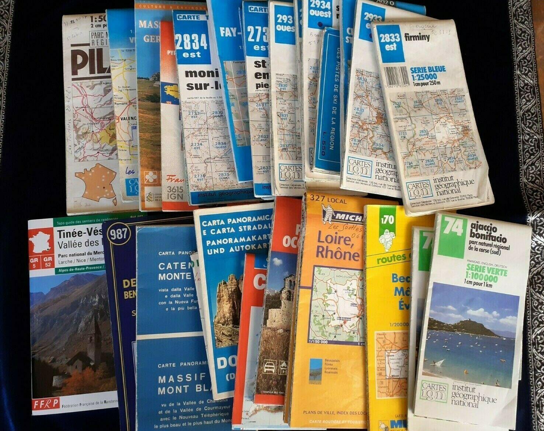 Mon Ebay En Cours Carte Routiere France Carte Routiere