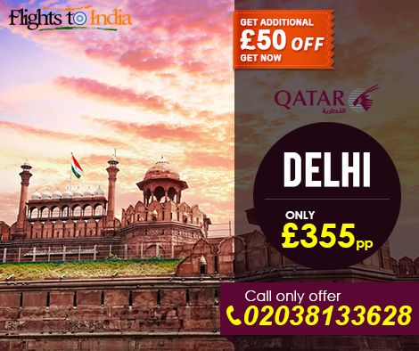 Grab Call Only offer on #FlightstoIndia, Get £50 off on Calll Now - 02038133628