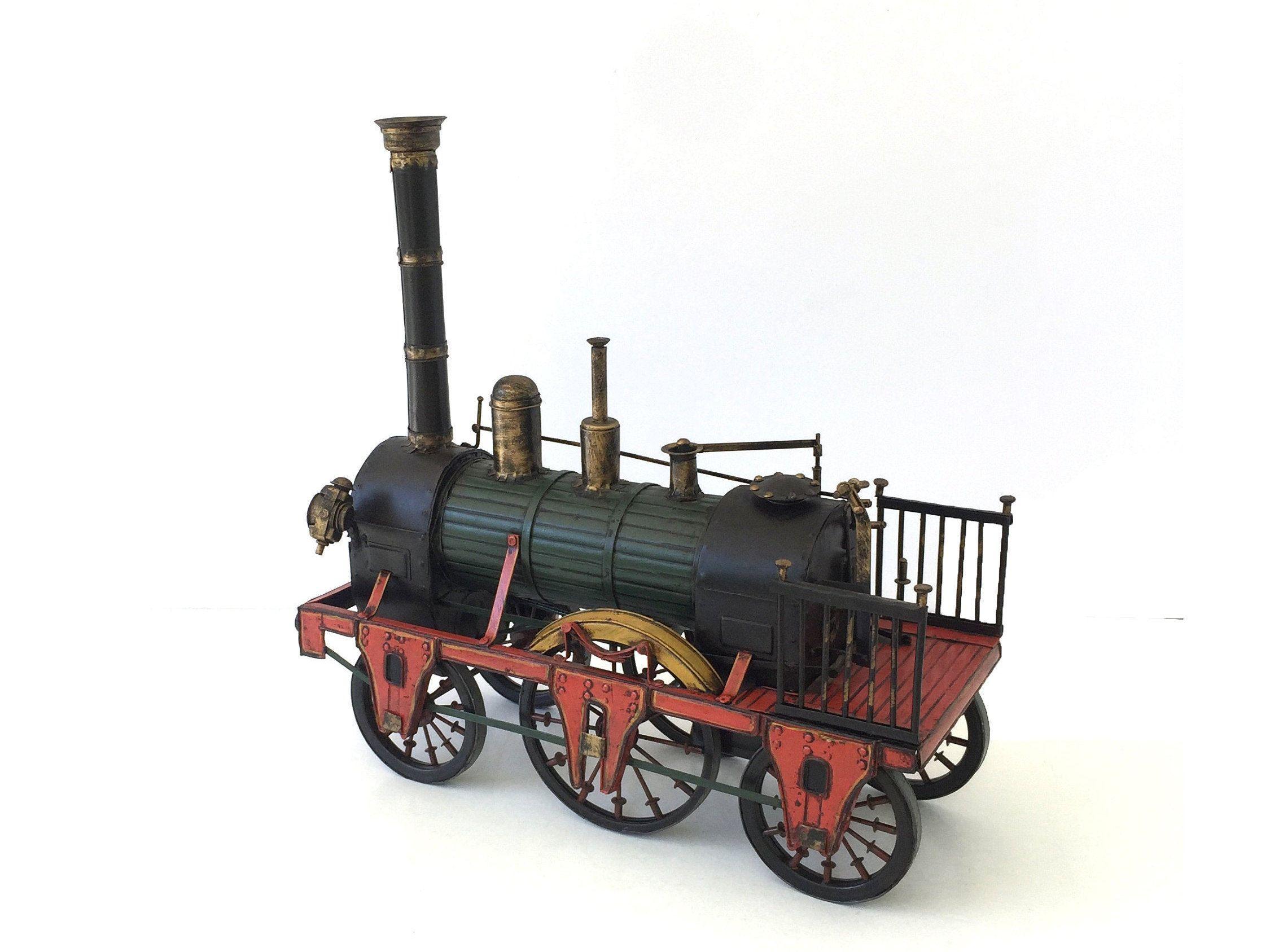 Vintage Steam Locomotive Train Engine Vintage Steam Train Etsy Steam Locomotive Train Engines Steam Trains