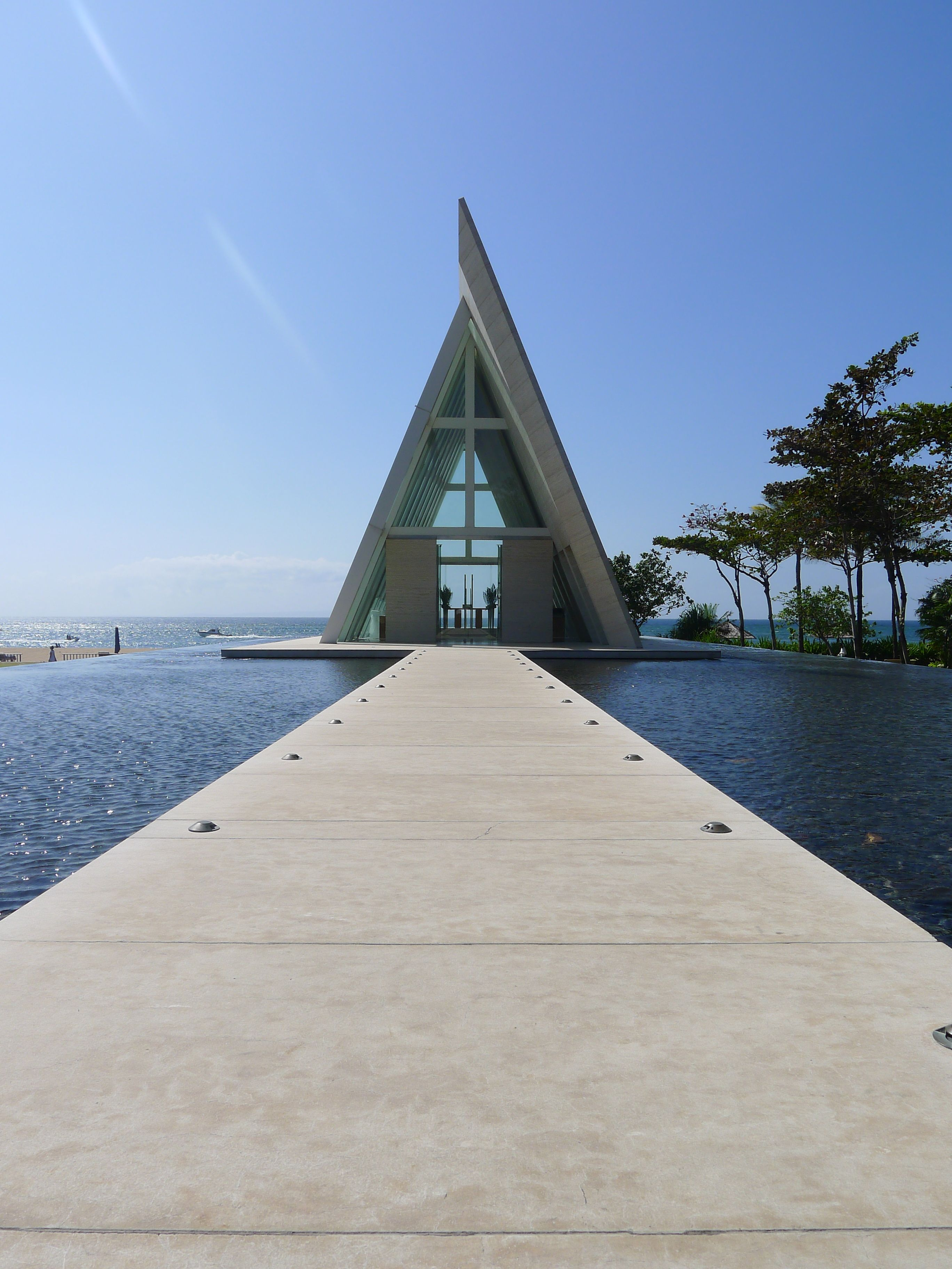 The Conrad, Bali a typical a-frame structure