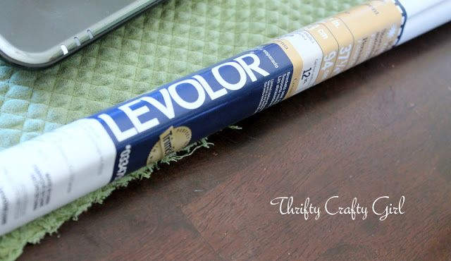 Thrifty Crafty Girl: Fabric-Covered Roller Shade DIY