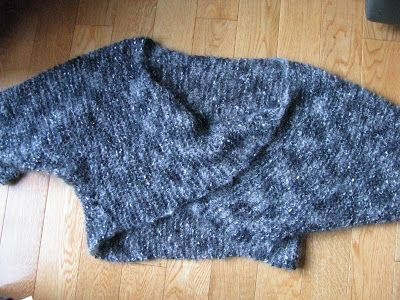 This is a quick knit pullover shrug. You can custom size this for ...