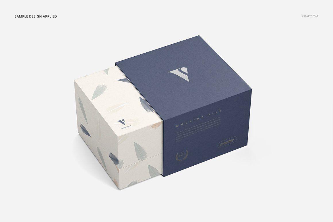 Download Slide Gift Box Mockup Set Box Mockup Slide Box Gift Box