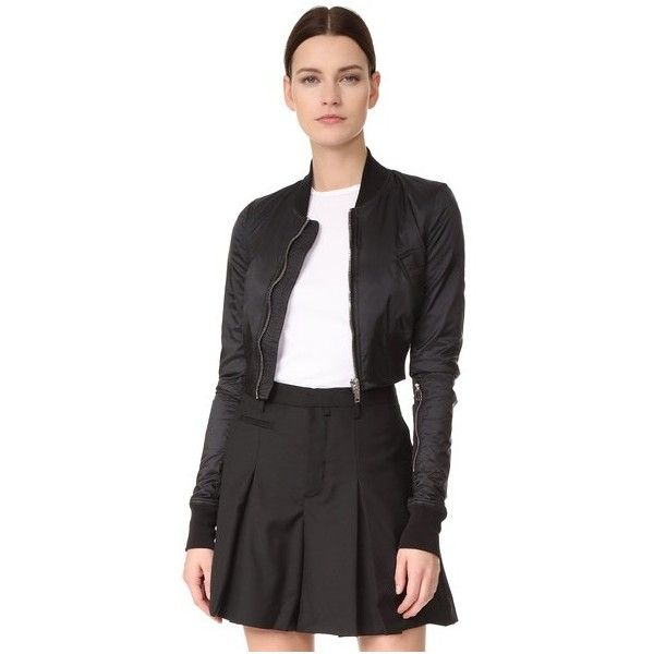 Rick Owens DRKSHDW glitter cropped bomber jacket With Credit Card Sale Online PYGZcfOuh