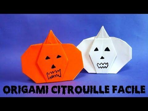 Origami Citrouille Facile Haloween