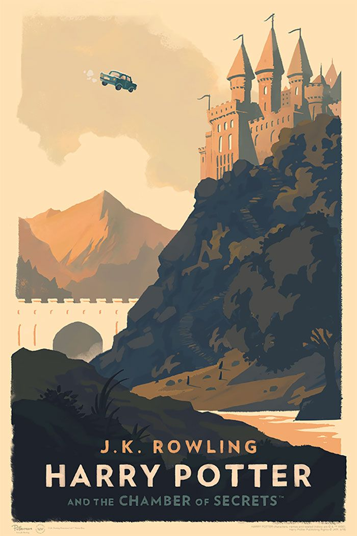 harry potter book covers illustration olly moss 2 | The Wizarding