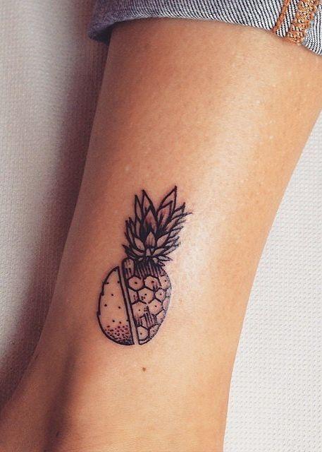 Decorando O Corpo Tatuagens De Plantas Tattoo Abacaxi Pontilhado