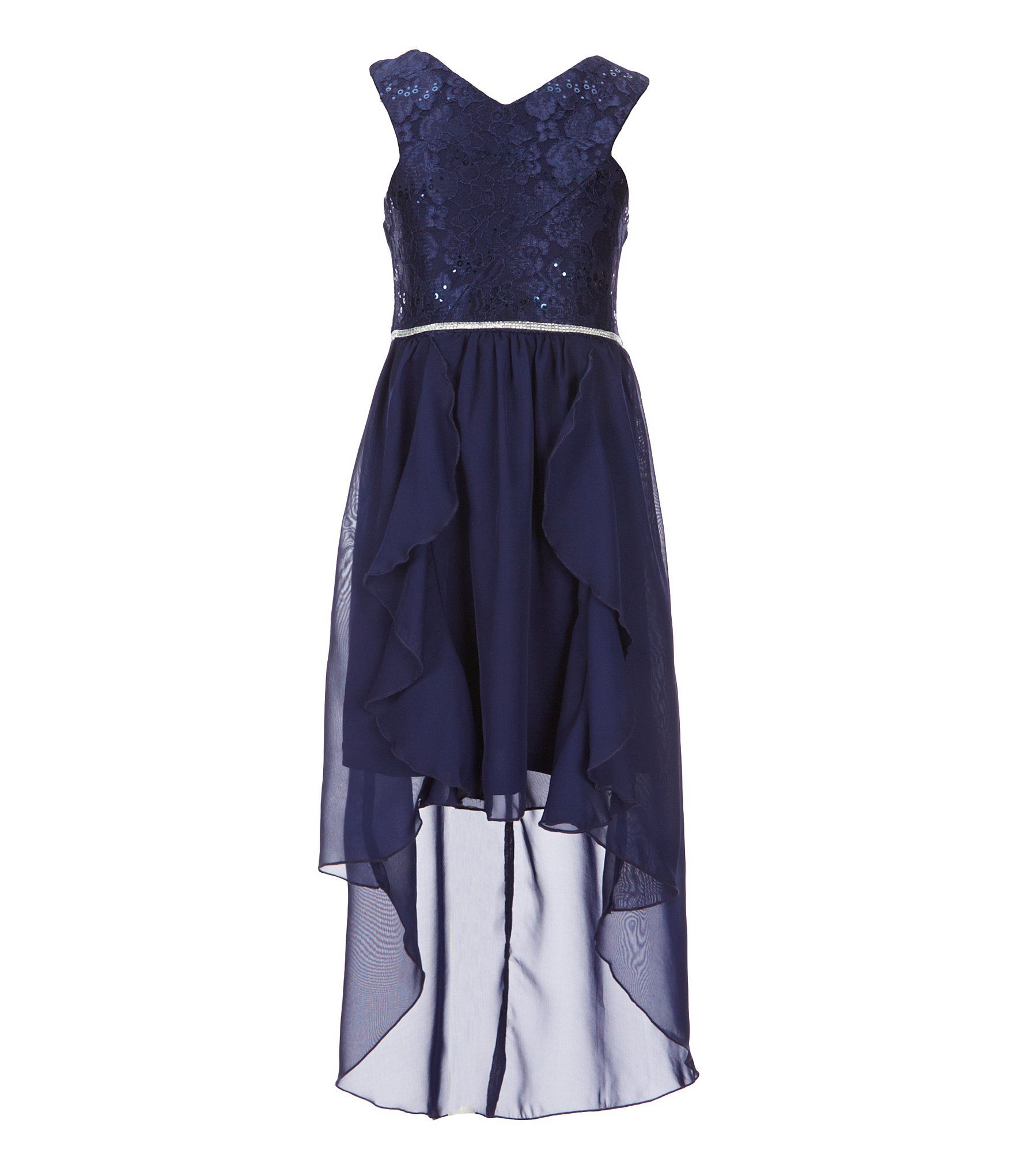 Tween diva big girls crossoverbodice fitandflare dress