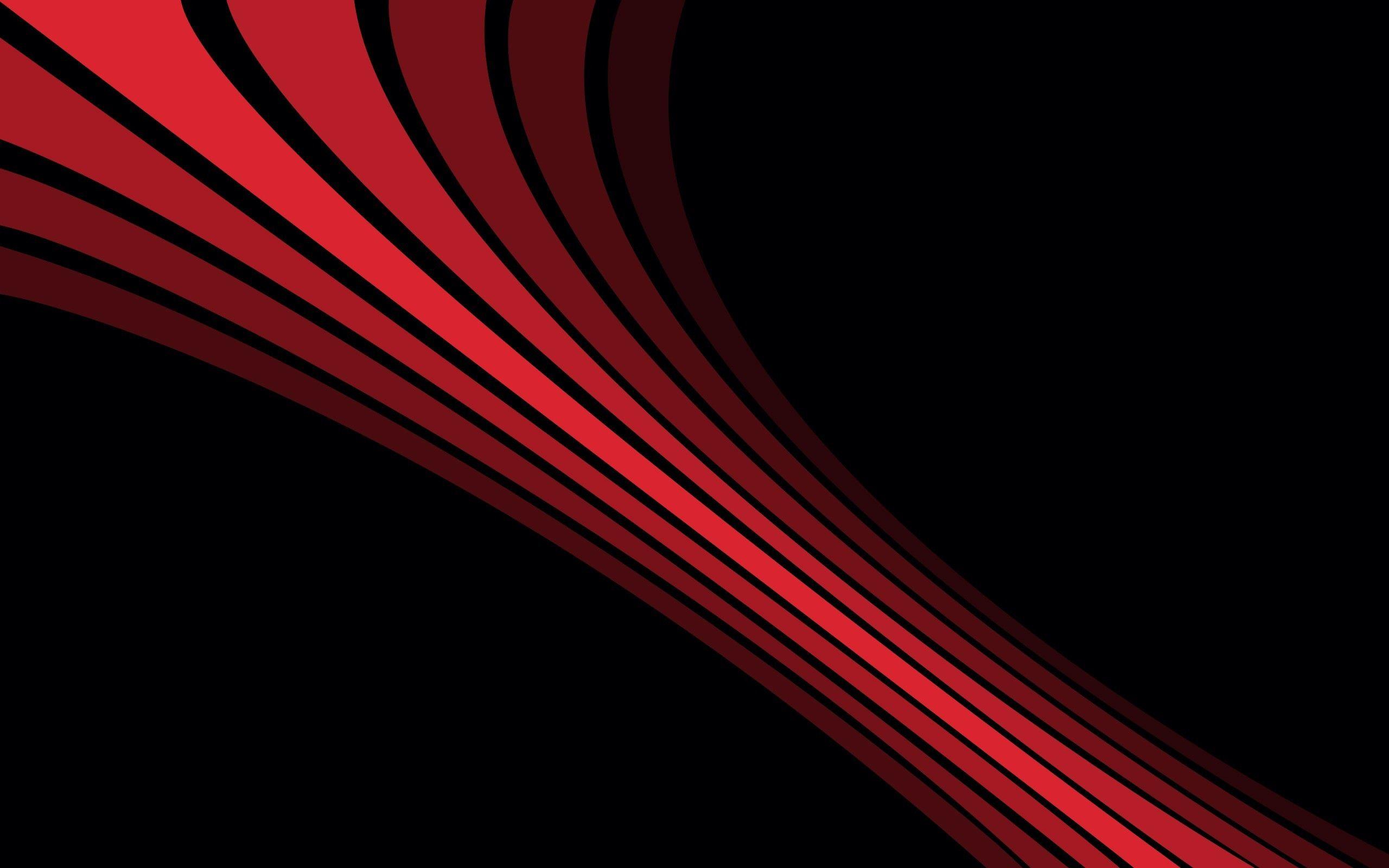 General 2560x1600 black background digital art simple red lines minimalism