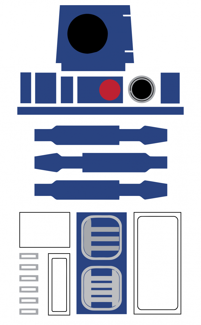 R2 D2 Printable Pattern Deco Star Wars Party Star Wars Birthday