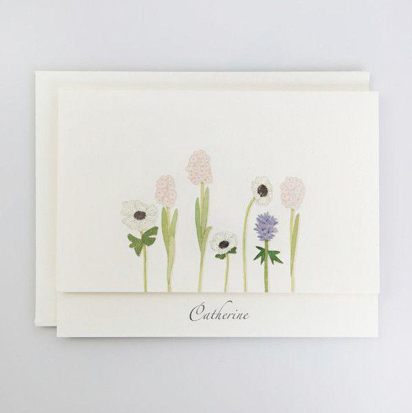 Stems Personalized Note Cards | Karen Adams Designs