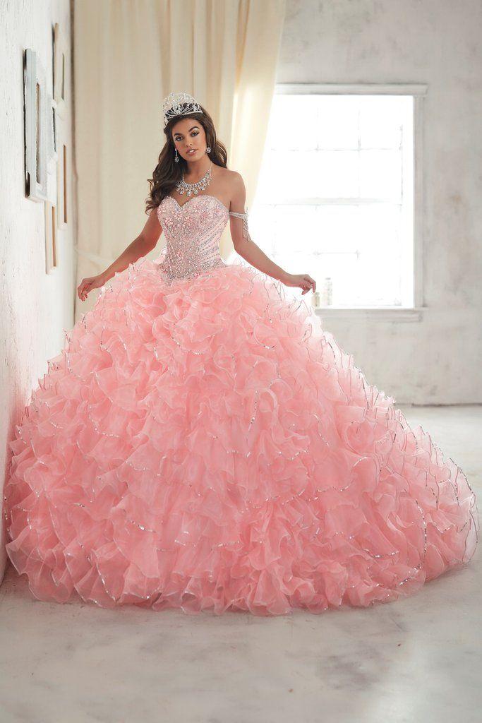Vestidos de 15 años color rosa | Vestidos de 15 cortos, Color rosa ...