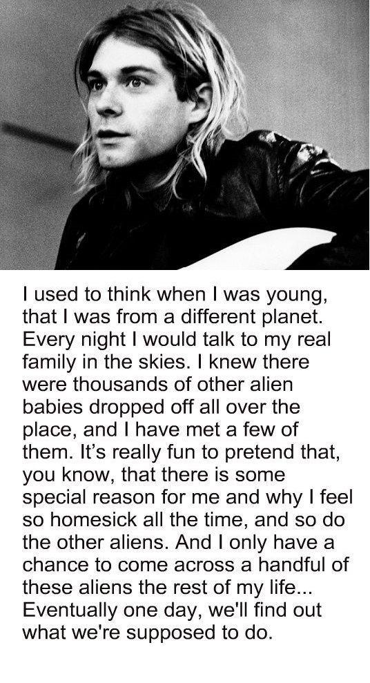 Kurt Cobain interview, childhood