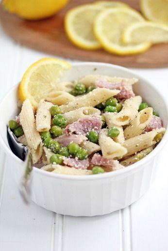 Lemon Pasta with Ham and Peas Recipe