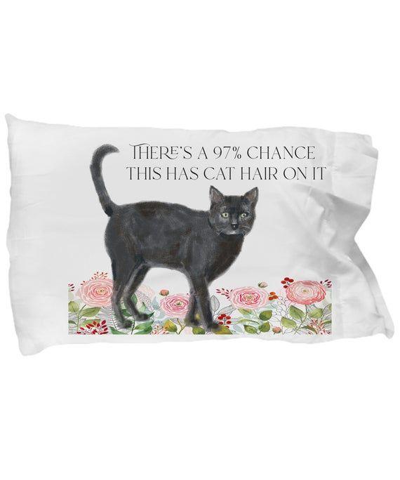 Black Cat Funny Pillow Case Gift