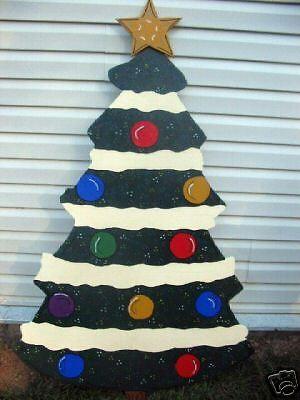 Christmas Tree Lawn Yard Art Decoration Christmas Yard Decorations Wood Christmas Decorations Christmas Wood