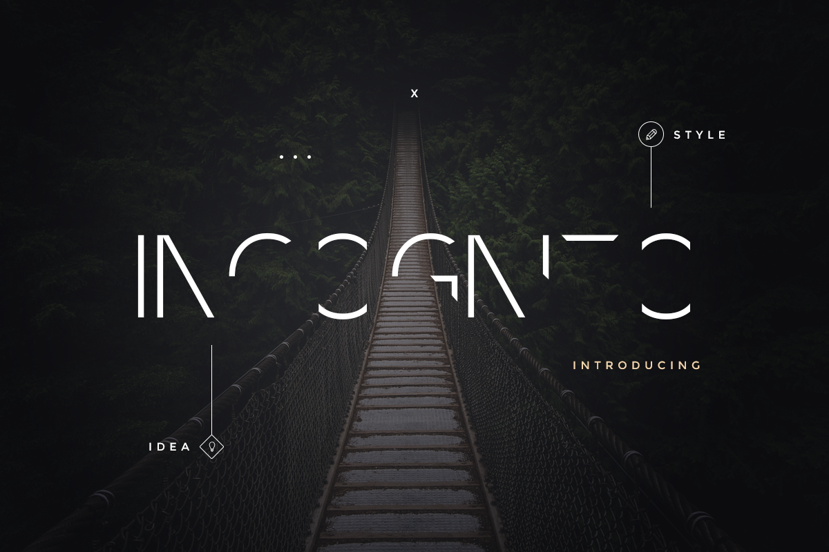 Incognito Font Pack Font 68968 Font Packs Social Media Design Graphics Incognito