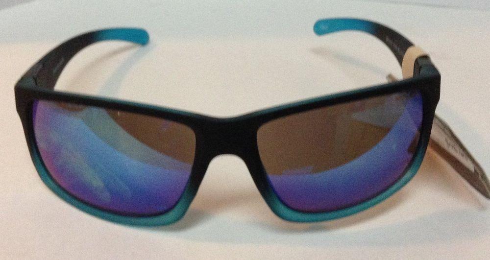f8c36b89b40 Panama Jack Polarized Sunglasses 100% UVA UVB Black Blue NWT  PanamaJack   Rectangular