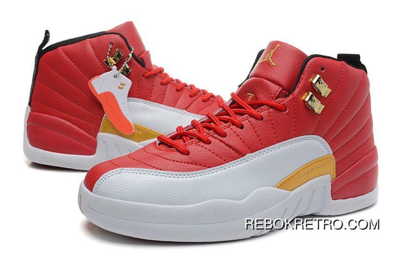 e412e2c17a11ce Women Air Jordan 12 GS Cherry Red White Free Shipping